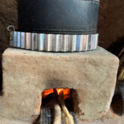 The Jet-Flame in a home made CQC Rocket Stove
