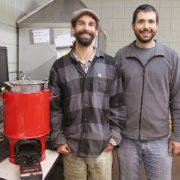 Sam Bentson and David Evitt with the new Jet-Flame