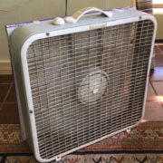 Box fan with filter reduces PM2.5
