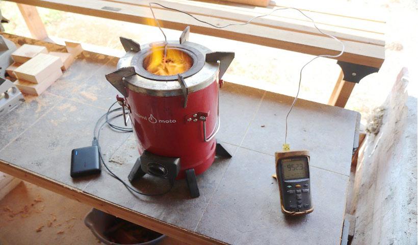 mimi-moto cookstove test