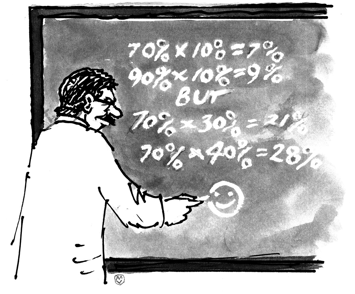 Man at chalkboard