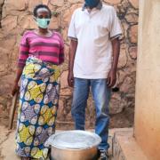 Kabanyana Murabukirwa Domina and Jean Marie Vianney Kayonga in Rwanda